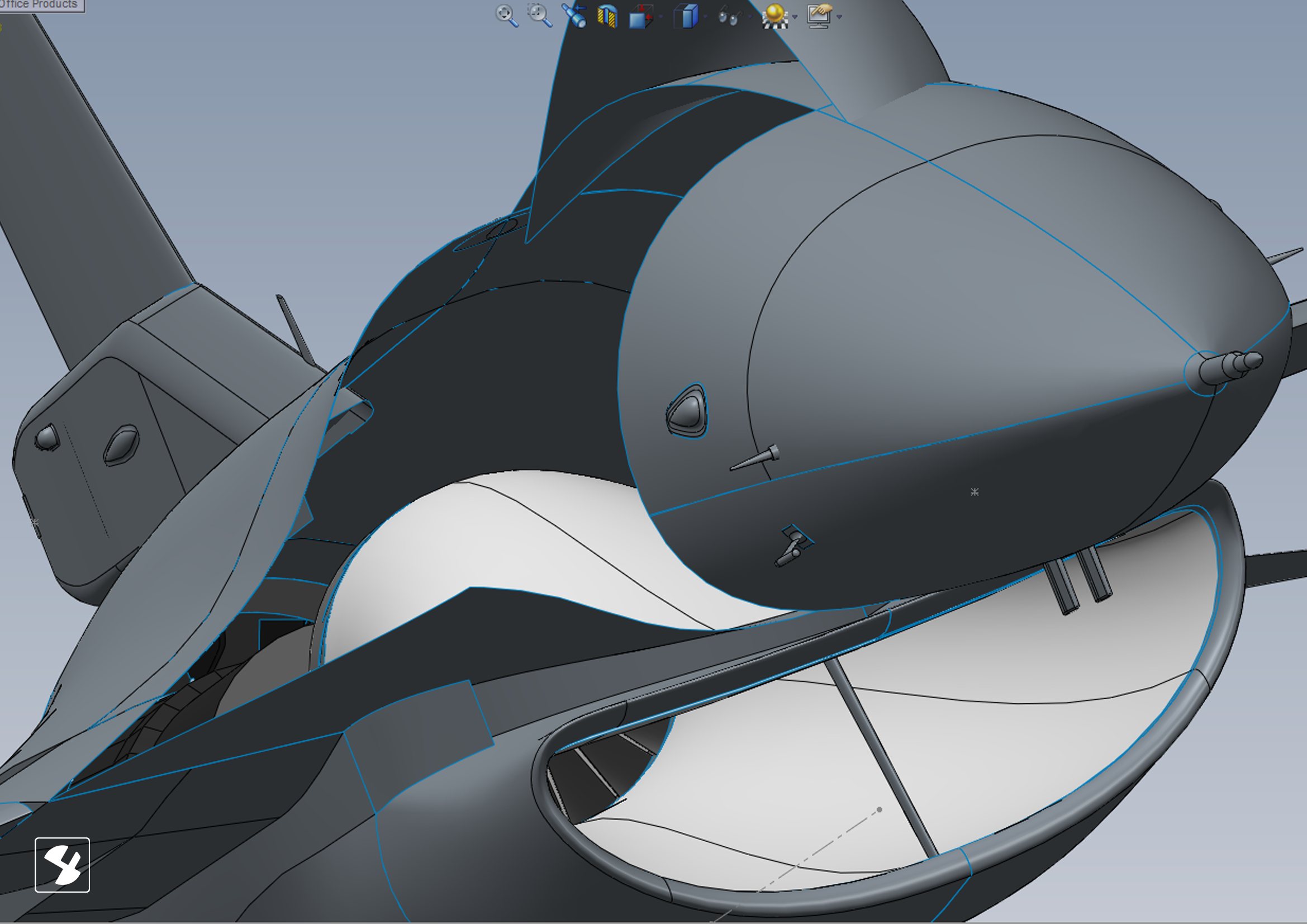 F-16 Fighting Falcon | High Precision CAD Model with SolidWorks